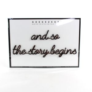 3D quote - and so the story begins (ROSEGOLD/KOPER)