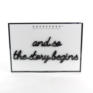 3D quote - and so the story begins (ZWART)