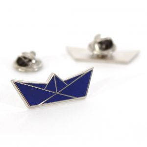 Pin bootje - BLAUW/ZILVER