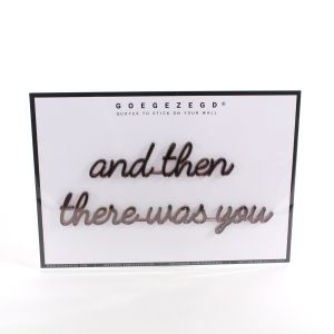3D quote - and then there was you (ROSEGOLD/KOPER)