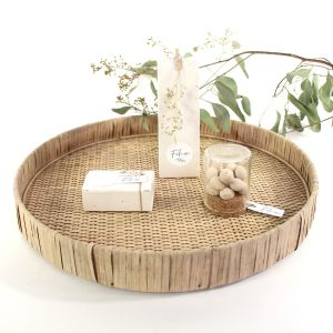 Tray riet rond 35cm