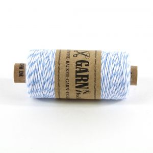 Bakers Twine - BLAUW/WIT