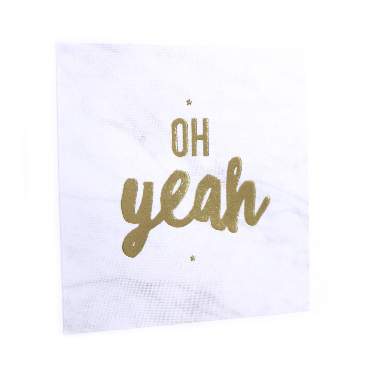 "Stickers ""OH YEAH"" marmer (per 20)"