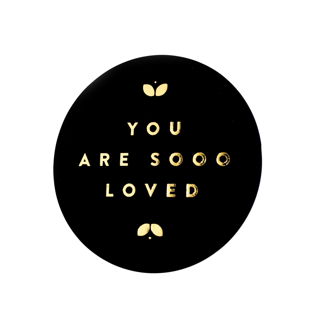 "Stickers ""You are sooo loved"" (per 20) - ZWART"